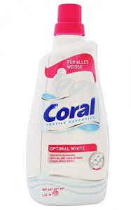 CORAL OPTIMAL WHITE 20 PRAŃ 1,5l